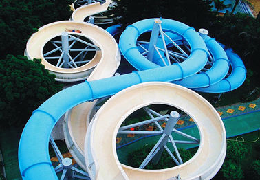 Trung Quốc Spiral Waterpark Slide , FRP Water Park Slides / Cuustomized Water Slide for Giant Aqua Park nhà cung cấp