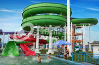 Trung Quốc Green Big Commercial Pool Water Slides For Theme Park / Backyard Water Slides Kids Công ty