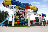 Trung Quốc Family Rafting Aqua Park Fiberglass Waterpark Slide 6 Person/time Công ty