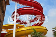 Trung Quốc Outdoor Fiberglass Water Slides Custom FRP Spiral Red Water Slides CE Công ty