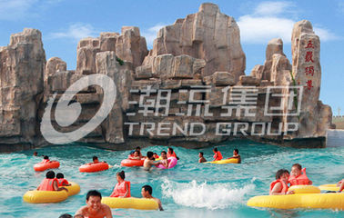 Fashional Fiberglass Water Parks With Wave Pools Popular Cool / Water Slide