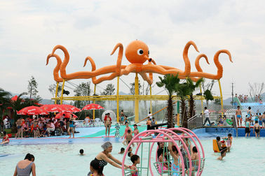 Customized 8m Height Octopus Spray  For Aqua Water Playground Equipment